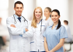 healthcare and medical - young team or group of doctors