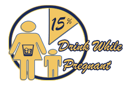 15 percent of women who are pregnant binge drink